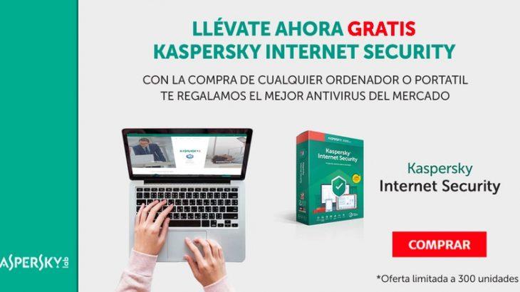 Kaspersky gratis comprando en QiCanarias